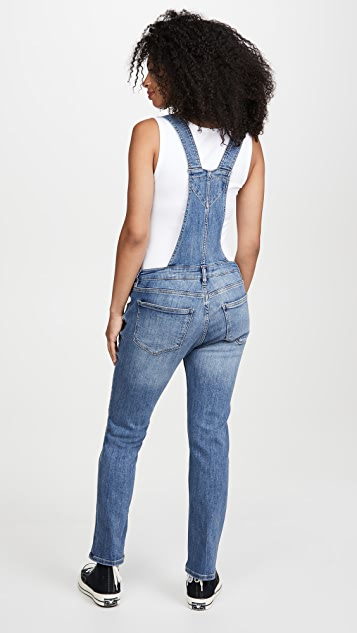 DL1961 Mara Straight Ankle Maternity Overalls