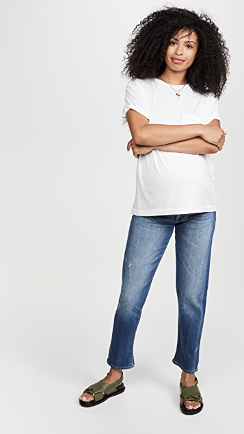 DL1961 Riley Mid Rise Boyfriend Jeans Maternity