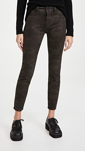 DL1961 Florence Ankle Coated Mid Rise Skinny Jeans