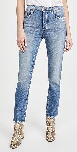 DL1961 - Patti 全长高腰直脚牛仔裤