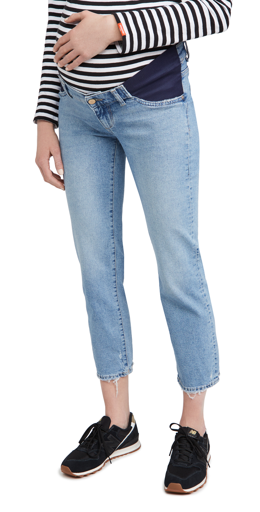 DL1961 Patti Straight Maternity Mid-Rise Jeans