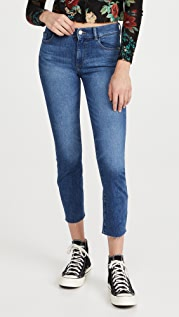 DL1961 Mara Straight Mid Rise Instasculpt Ankle Jeans