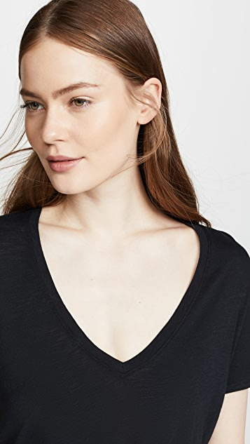 David Lerner Super Deep V Neck Tee