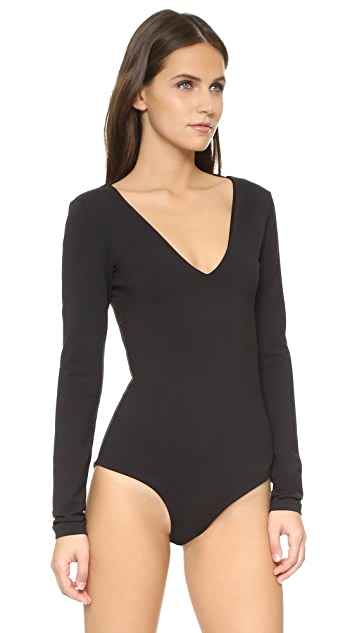 David Lerner Plunging Bodysuit