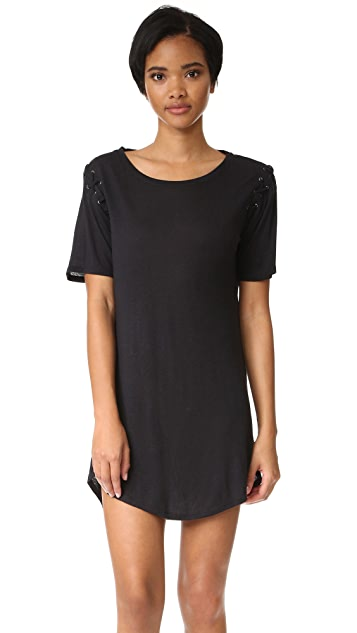 David Lerner Lace Up T Shirt Dress Shopbop