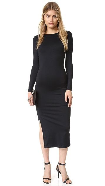 David Lerner Low Back Midi Dress