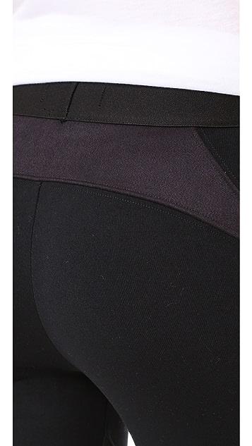David Lerner Moto Leggings with Microsuede Detail