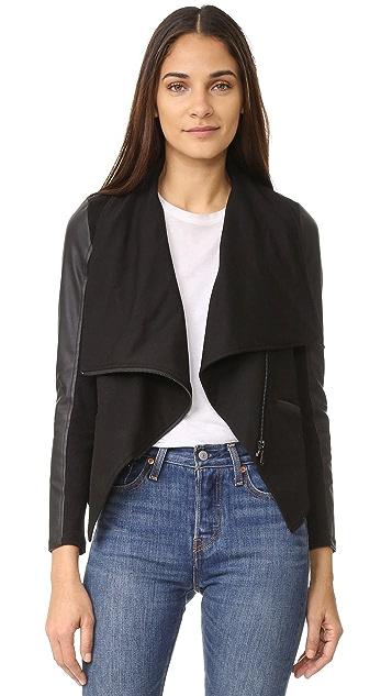 David Lerner Asymmetrical Draped Jacket