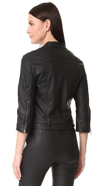 David Lerner Griffin Faux Leather Jacket
