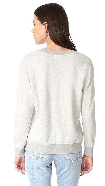 David Lerner Lace Up Sweatshirt
