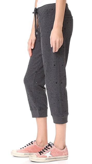 David Lerner Cropped Lace Up Track Pants