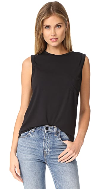 David Lerner Crew Neck Rolled Muscle Tee