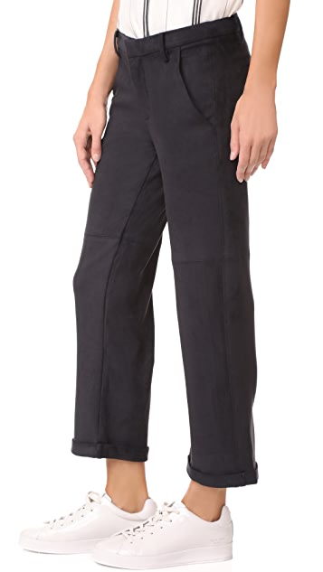 David Lerner Slouch Cropped Chinos