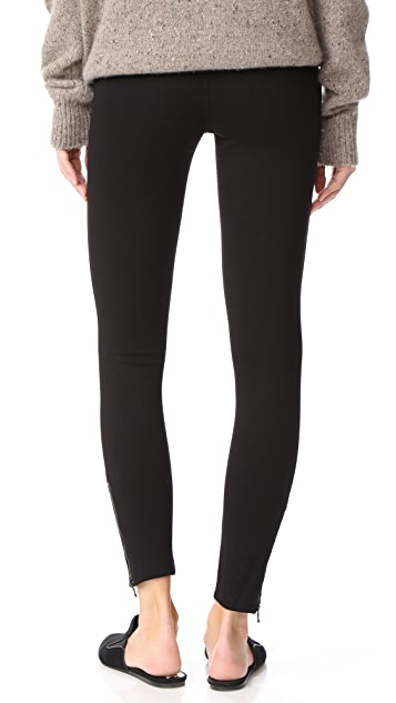 David Lerner Seamed Ankle Zip Leggings