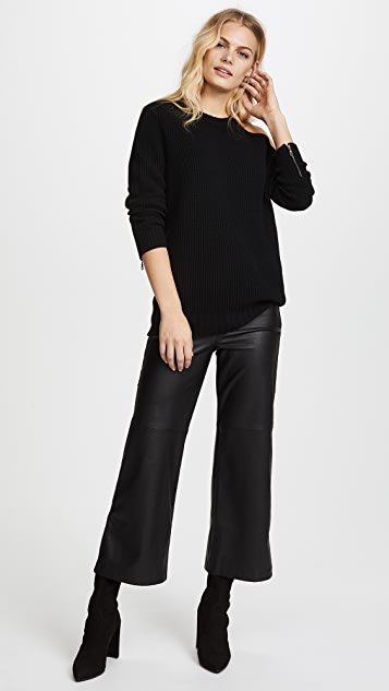 David Lerner Varick Wide Leg Skimmer Pants