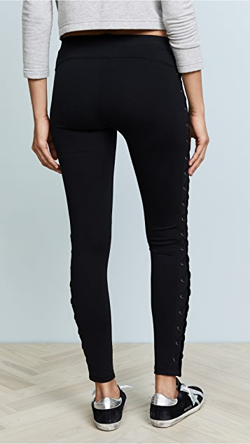 David Lerner X Cross Lace Up Leggings