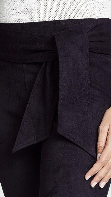 David Lerner Waist Tie Straight Leg Skimmer Pants