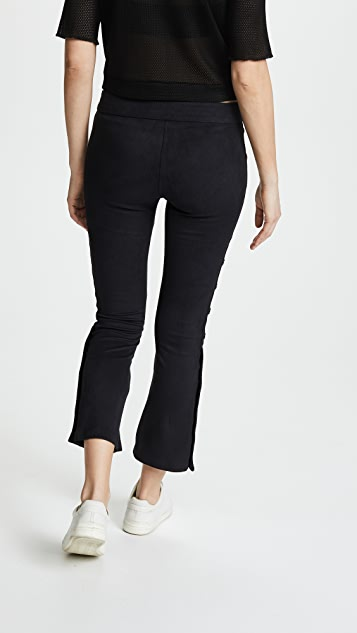 David Lerner Flare Pants with Side Snap Detail