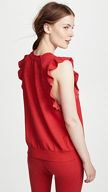 David Lerner Ruffle Sleeveless Pullover