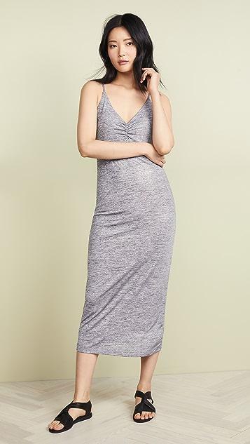David Lerner Ruched Front Slip Dress