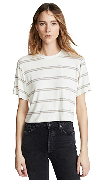 David Lerner Укороченная футболка с заниженными плечами