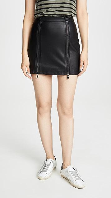 David Lerner Double Zip Skirt