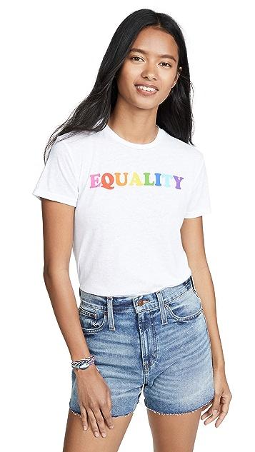David Lerner Футболка с радужным принтом «Equality»