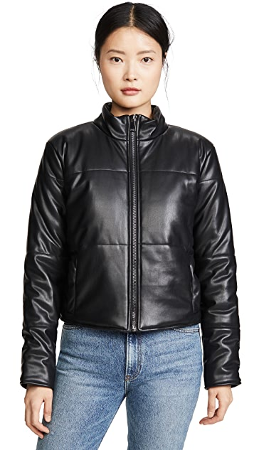 David Lerner Bella Vegan Crop Puffer Coat