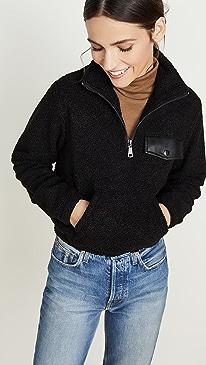 Andi Half Zip Mock Neck Pullover