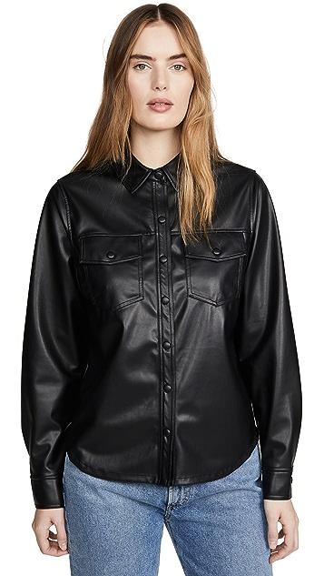 David Lerner Jordan Button Down Shirt Jacket