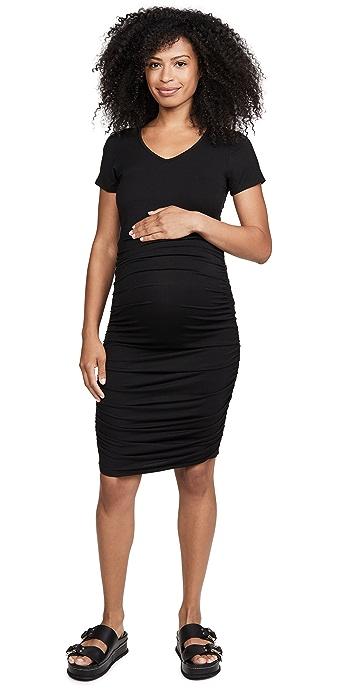 David Lerner Maternity Tee Dress - Black