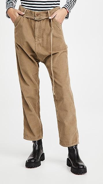 Denimist 五口袋低裆工装裤