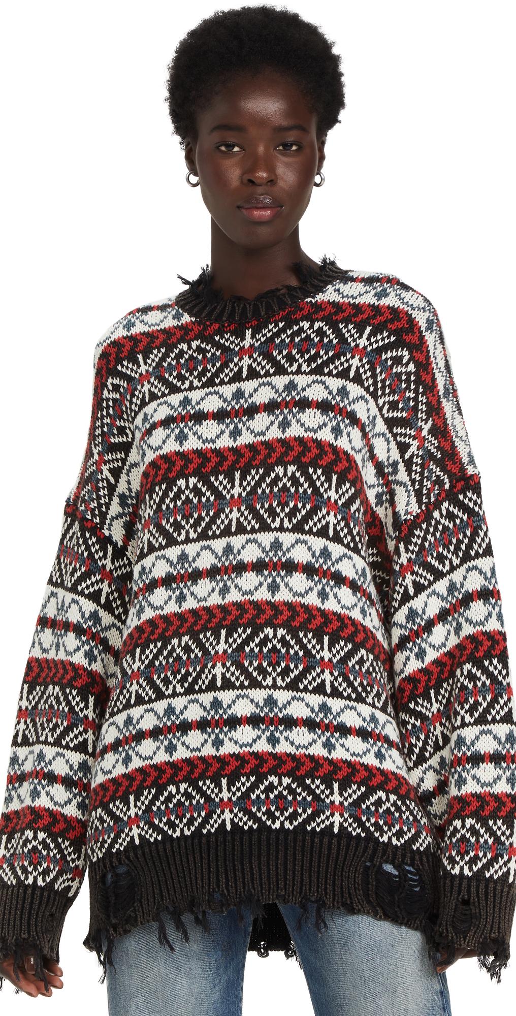 Oversized Fair Isle Sweater