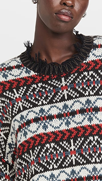Denimist Oversized Fair Isle Sweater