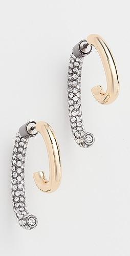 DEMARSON - Pave Luna Earrings