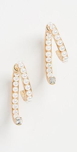 DEMARSON - Pearl Luna Earrings