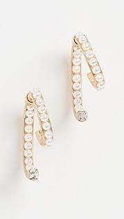 DEMARSON Pearl Luna Earrings