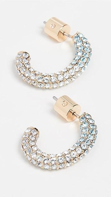 DEMARSON Pave Luna Earrings