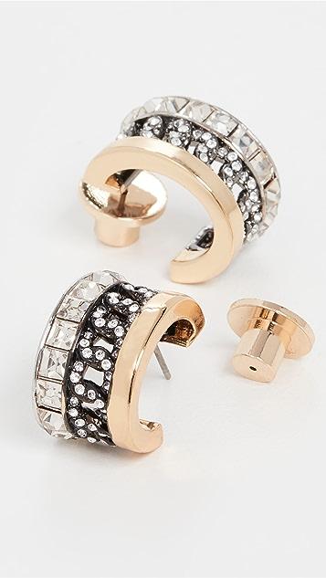 DEMARSON Portia 三色圈式耳环