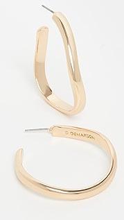 DEMARSON Medium Calypso Curve 圈式耳环