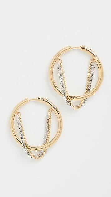 DEMARSON Riley Multi Chain Hoops