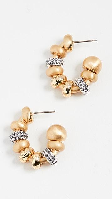 DEMARSON Lucy Baroque Mini Hoop Earrings