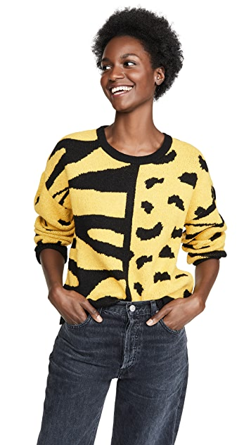 DNA Zebra Leopard Mix Sweater