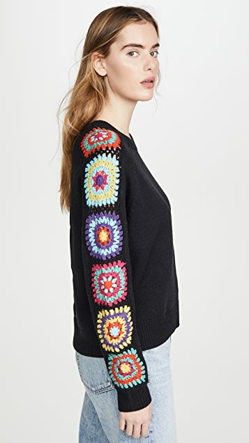 DNA Black Crochet Sweater