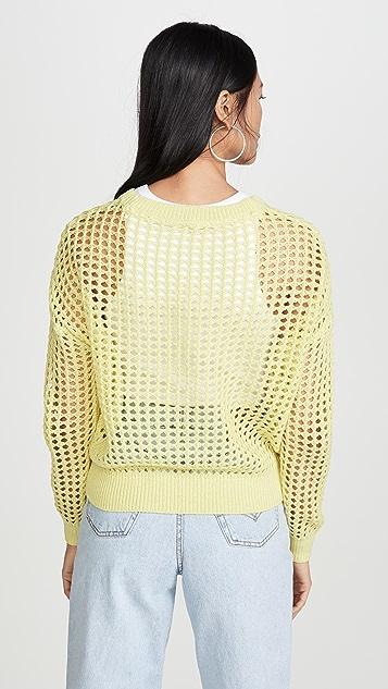 DNA Lime Crochet Sweater