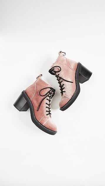 Dolce Vita Lynx Combat Heeled Boots