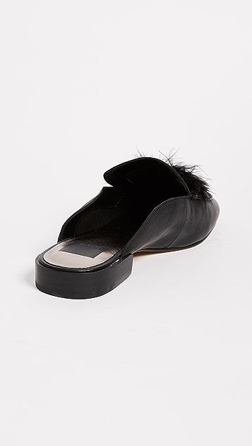 Dolce Vita Maura Flat Feather Mules