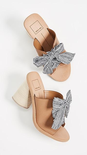Dolce Vita Amber Woven Block Heel Sandals