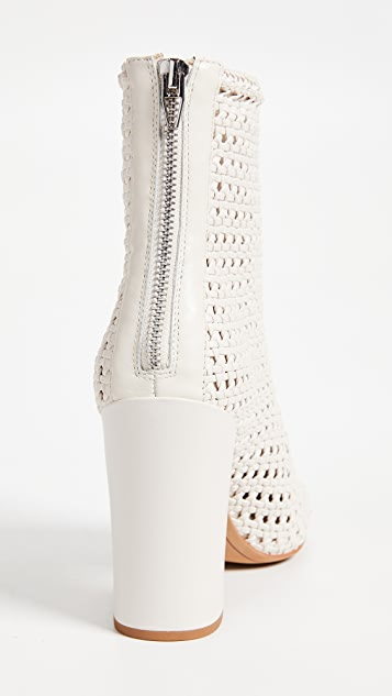 Dolce Vita Scotch Woven Ankle Boots with Block Heel