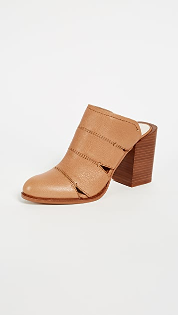 Dolce Vita Makeo Block Heel Mules - Caramel